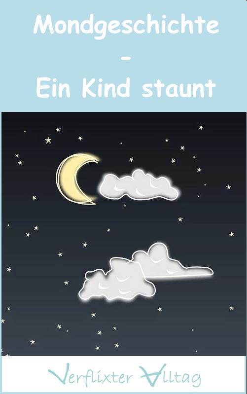 Mondgeschichte - ein Kind staunt