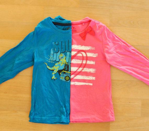 Geschlechtstypisch Kleidung Farbe rosa hellblau