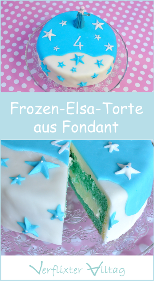 Torte Backen der Eiskönigin