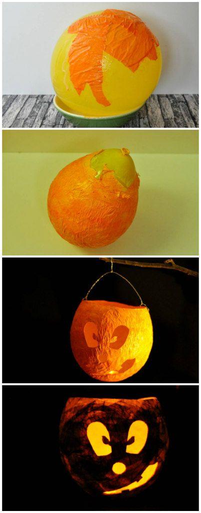 Kuerbislaterne Luftballon Selber Basteln Verflixter Alltag Der
