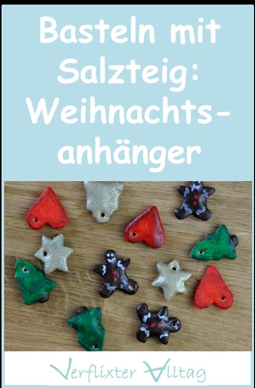Basteln mit Salzteig: süße Geschenkanhänger für Weihnachten