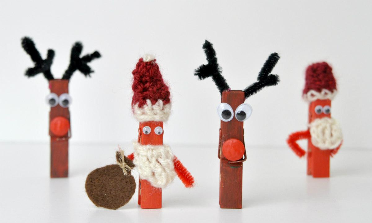 weihnachtsbasteln diy elch und weihnachtsmann mit. Black Bedroom Furniture Sets. Home Design Ideas