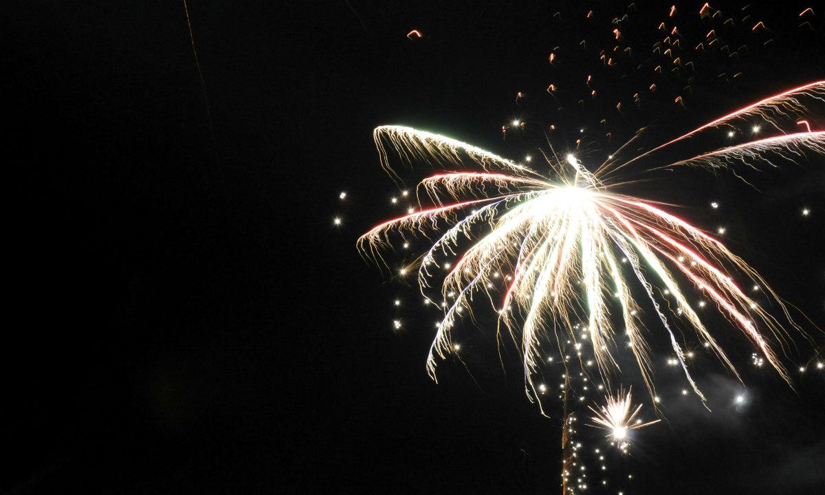 Feuerwerk Silverster