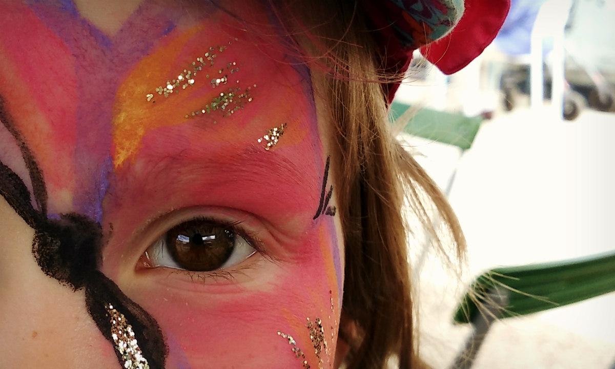 4_Kinderschminken_Schmetterling
