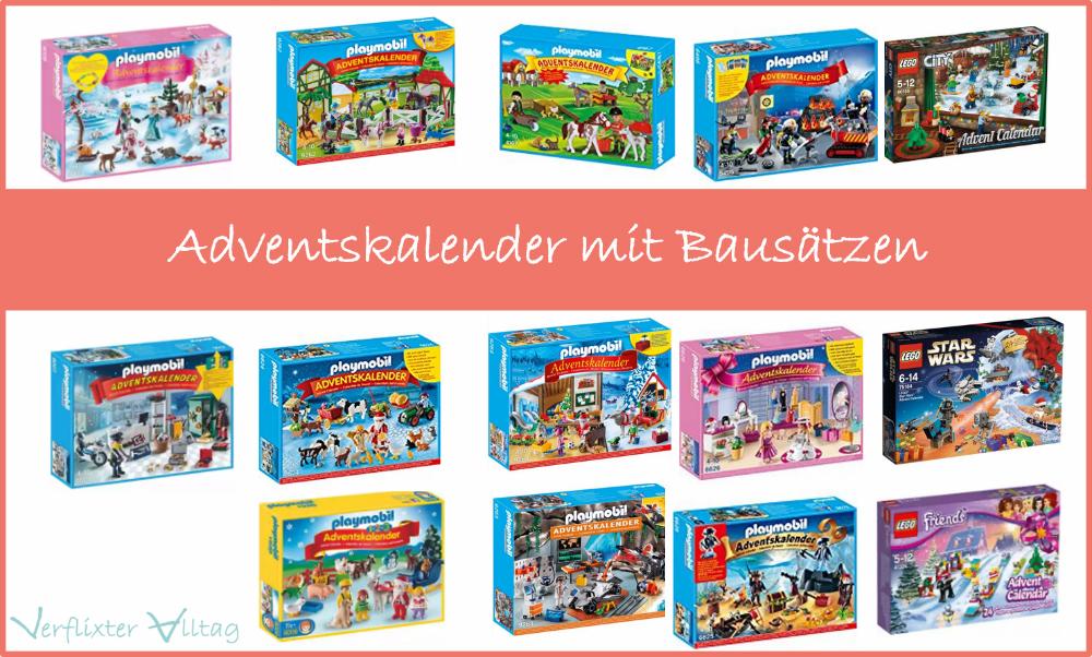 Adventskalender von Playmobil und Lego