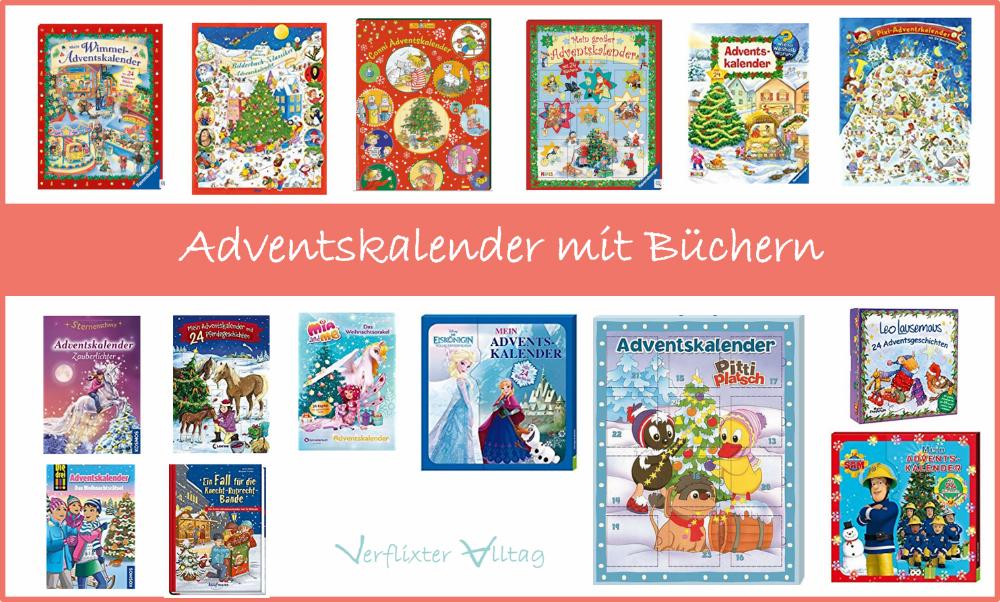 Adventskalender mit 24 Büchern bzw. als Buch