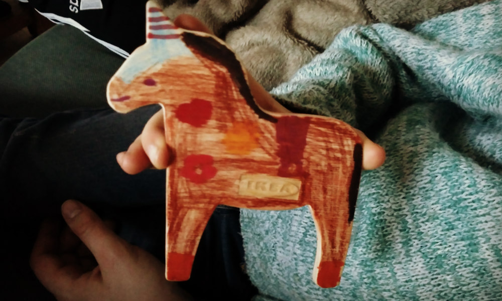 Pferd_angemalt_Holz_Einhorn