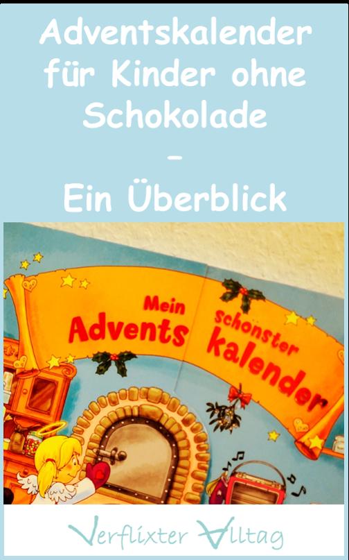 Adventskalender für Kinder ohne Schokolade - ein Überblick