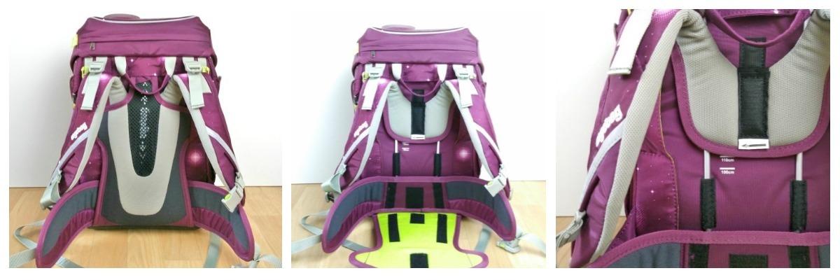 höhenverstellbare Rückenpolsterung Ergobag