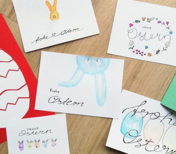 Osterkarten - Ideen für Grundschule und zu Hause