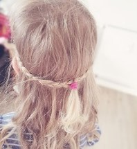 Haarkranz selbst geflochten