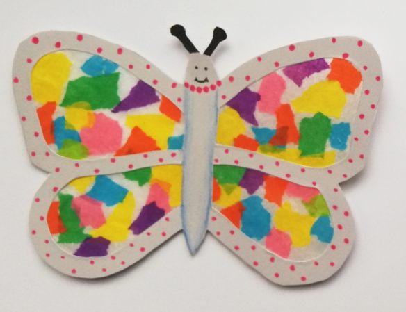 Schmetterling als Fensterbild