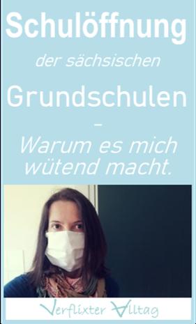 Schulöffnungen in Sachsen - Warum es mich wütend macht