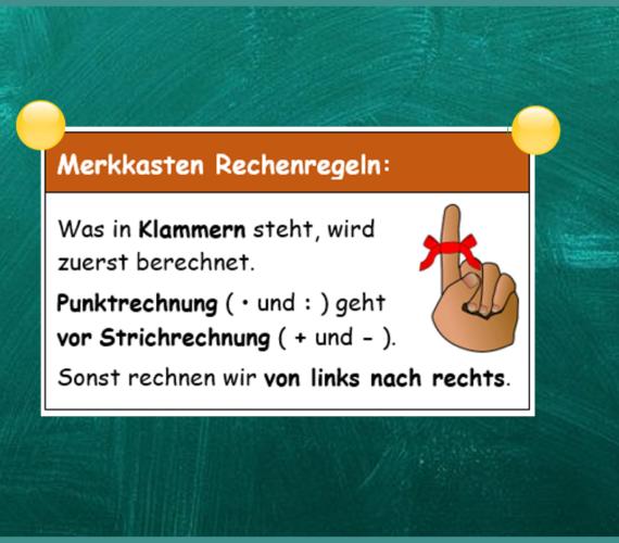 Rechenregeln Mathe Grundschule